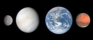 Terrestrial planet Planet that is composed primarily of silicate rocks or metals.