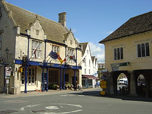 Tetbury - The centre of Tetbury