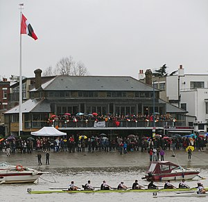Thames Rowing Club - Image: Thames Rowing Club on Head of the River Race day 2012