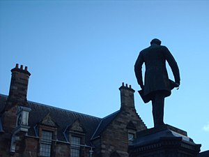Sir William Pearce, 1st Baronet - Statue of Sir William Pearce outside the Pearce Institute at Govan Cross.