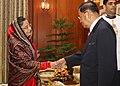 The Chairman, State Peace and Development Council, Myanmar, Sr. Gen. Than Shwe called on the President, Smt. Pratibha Devisingh Patil, at Rashtrapati Bhavan, in New Delhi on July 27, 2010.jpg