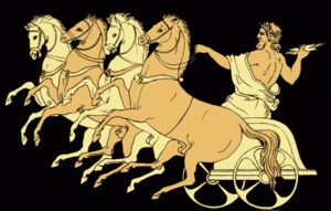 The Chariot of Zeus, from an 1879 Stories from...