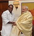The Chief Minister of Puducherry, Shri N. Rangaswamy calling on the Prime Minister, Shri Narendra Modi, in New Delhi on March 16, 2015.jpg