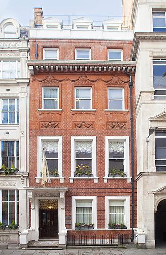 William Hillary - 12 Austin Friars, where the first London office of the National Institution for the Preservation of Life from Shipwreck was set up in 1824