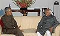 The Governor of Uttarakhand, Shri B.L. Joshi called on the Vice President, Mohammad Hamid Ansari, in New Delhi on March 12, 2008.jpg