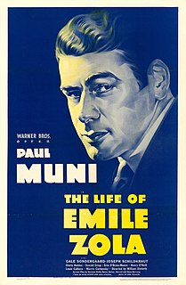 <i>The Life of Emile Zola</i> 1937 film by William Dieterle
