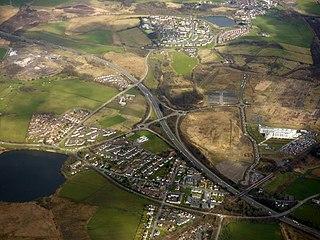 Glenboig village in North Lanarkshire, Scotland, United Kingdom