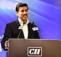 The Minister of State for Youth Affairs & Sports and Information & Broadcasting (IC), Col. Rajyavardhan Singh Rathore delivering the inaugural address at the SCORECARD 2018 programme, in New Delhi on July 26, 2018.JPG