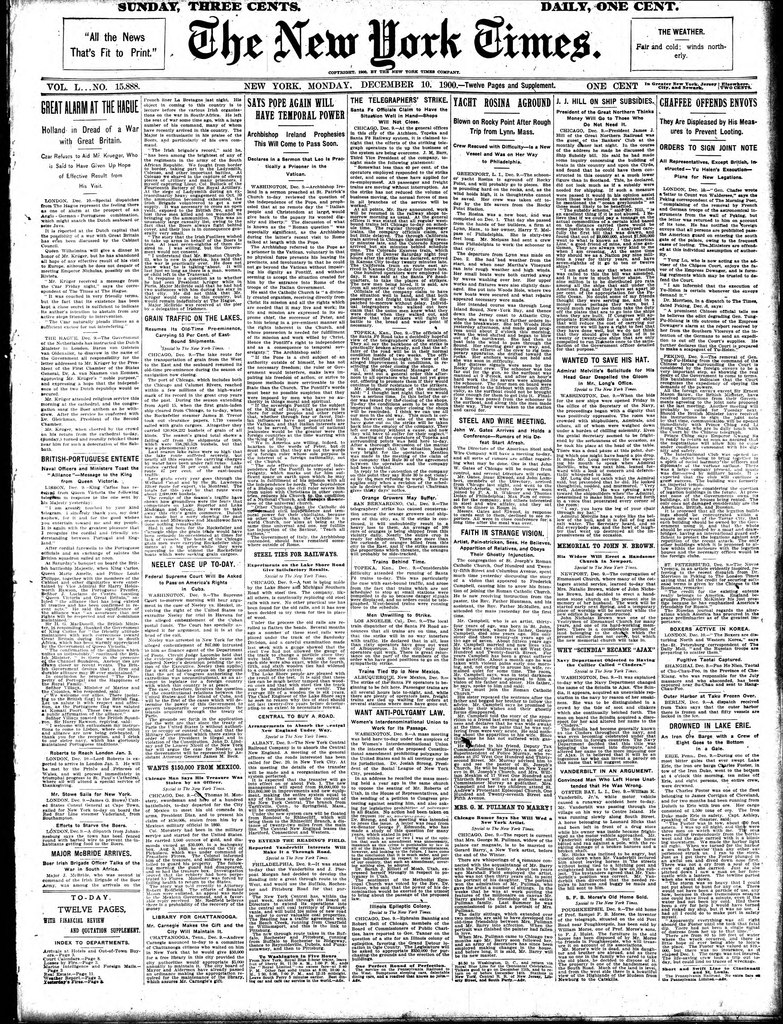 Francois Illas New Tradition: File:The New York Times, 1900-12-10.djvu