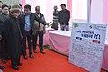 The President, Shri Pranab Mukherjee visiting the model polling booth, at Dr. Rajendra Prasad Sarvodaya Vidyalaya, President's Estate, in New Delhi on February 07, 2015.jpg