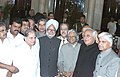 The President Dr.A.P.J.Abdul Kalam and Prime Minister Dr. Manmohan Singh with the newly inducted Ministers after a glittering swearing in ceremony at Rashtrapati Bhawan, in New Delhi on January 29,2006.jpg