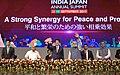 The Prime Minister, Shri Narendra Modi and the Prime Minister of Japan, Mr. Shinzo Abe at the India-Japan Business Summit, in Mahatma Mandir, Gandhinagar, Gujarat.jpg