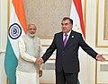 The Prime Minister, Shri Narendra Modi in a bilateral meeting with the President of the Republic of Tajikistan, Mr. Emomali Rahmon, in Tashkent, Uzbekistan on June 24, 2016.jpg