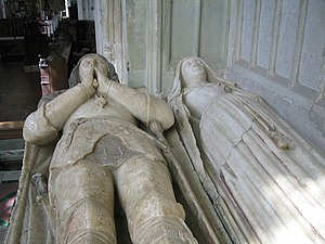 John de la Pole, 2nd Duke of Suffolk - The tomb of John de la Pole and his wife Elizabeth in Wingfield church, 2007
