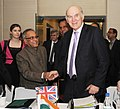 The Union Finance Minister, Shri Pranab Mukherjee and the Secretary of state for Business Innovation and Skills, United Kingdom, Dr. Vince Cable, at a Bilateral Meeting, in New Delhi on January 19, 2011.jpg