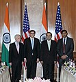 The Union Minister for Finance, Corporate Affairs and Information & Broadcasting, Shri Arun Jaitley, the Governor of Reserve Bank of India, Shri Raghuram Rajan and the US Secretary for Treasury, Mr. Jacob Lew.jpg
