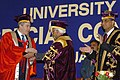 The Vice President and the Chancellor of Delhi University, Mohammad Hamid Ansari conferring the Honorary Doctorate degree to the Prime Minister of the United Kingdom, Mr. Gordon Brown, in Delhi on January 21, 2008.jpg