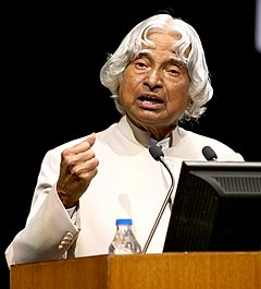 "The former President, Dr. A.P.J. Abdul Kalam delivering key note address on ""Strength Respects Strength"", at the 5th Admiral A.K. Chatterji Memorial Lecture, in Kolkata on April 11, 2015.jpg"