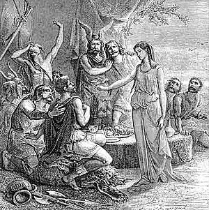 Greeks in pre-Roman Gaul - In legend, Gyptis, daughter of the king of the Segobriges, chose the Greek Protis, who then received a site for founding Massalia.