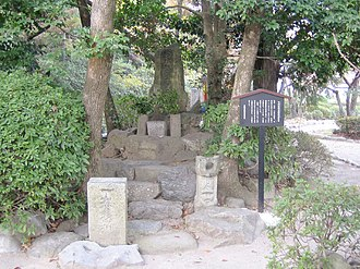 Battle of Okehazama - The grave of Imagawa Yoshimoto, in Nagoya, near the site of the battle.