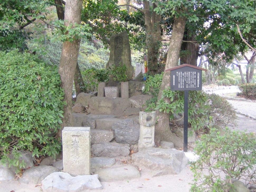 The grave of Yoshimoto Imagawa in Okehazama
