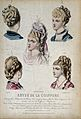 The heads and shoulders of five women with their hair combed Wellcome V0019890EL.jpg
