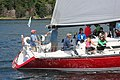 The sailboat Koobalibra, a C&C 115, competing in the Great Bras d'Or Cup, Leg 3 of Race the Cape 2013 02.jpg