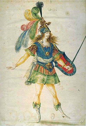 Ballet Royal de la Nuit - Image: The warrior (from Ballet de la nuit)