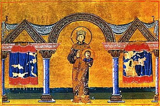 Theodora (wife of Theophilos) - Theodora as depicted in the Menologion of Basil II