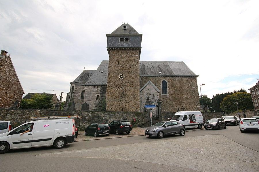 L'église Saints-Hermès-et-Alexandre, le mur de clôture du cimetière, les deux portails et leurs grilles