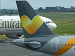 Thomas Cook Airlines (G-TCDF), Newcastle Airport, July 2014 (03).JPG