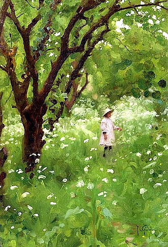 Thomas Cooper Gotch - Image: Thomas Cooper Gotch The Orchard 1887