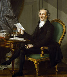 thomas paine  oil painting by laurent dabos circa 1791