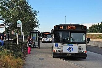 Delta Park/Vanport station - Three C-Tran buses at the station