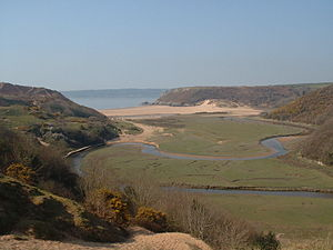 Three Cliffs Bay - Image: Three Cliffs photo