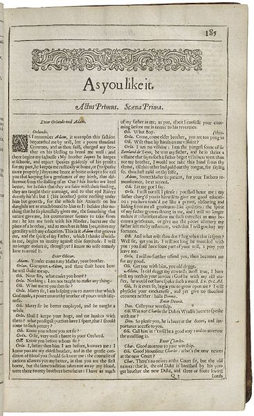 File:Title Page of As You Like It from the Second Folio.jpg