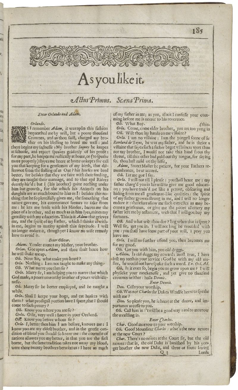 Title Page of As You Like It from the Second Folio.jpg