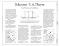 Title Sheet - Schooner C.A. THAYER, Hyde Street Pier, San Francisco, San Francisco County, CA HAER CAL,38-SANFRA,199- (sheet 1 of 38).png