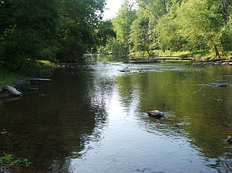 Tohickon Creek - A typical view of the creek from Bedminster Township.