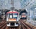 Tokyu 6000 series Futako-Shinchi Station 2017-05-07 (35398234221).jpg