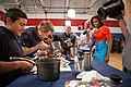 Tom Colicchio, center, Sam Kass and Michelle Obama 2012.jpg