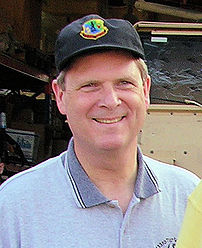Tom Vilsack, governor of Iowa, visiting troops in Kuwait.