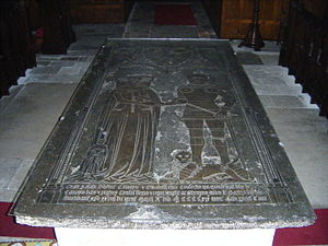Thomas de Camoys, 1st Baron Camoys - Ledger stone of Thomas de Camoys, 1st Baron Camoys, St George's Church, Trotton