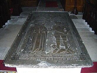 Thomas de Camoys, 1st Baron Camoys - Ledger stone of Thomas de Camoys, 1st Baron Camoys, St George's Church, Trotton