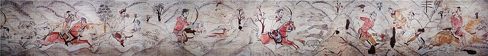 Tomb of Northern Qi Dynasty in Jiuyuangang, Xinzhou, Mural 01