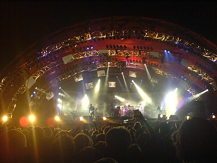 "Tool performing a headline slot at the Roskilde Festival as part of the ""10,000 Days"" tour Tool roskilde festival 2006.jpg"