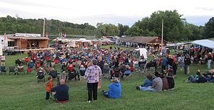 Tottenham Bluegrass Festival - Bluegrass fans in the concert area at the 2014 Tottenham Bluegrass Festival