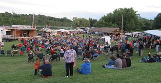 Tottenham Bluegrass Festival - Bluegrass fans in the concert area at the 2014 Tottenham Bluegrass Festival