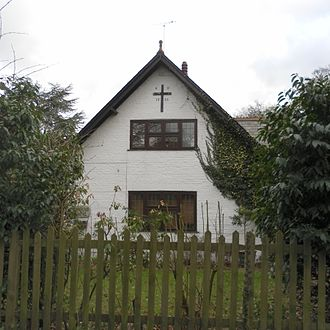 Burstow - The former Baptist chapel at Fernhill, part of the parish which is now in West Sussex.