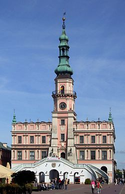 Town Hall in Zamość 2009.JPG